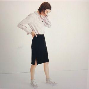 Madewell Black Velvet Pencil Skirt NWT size 10